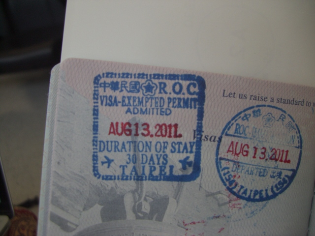 Taipei Passport Stamps
